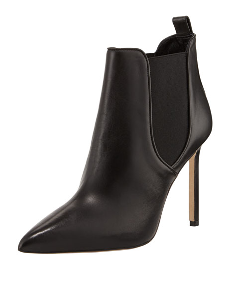 Tungade Pointy Gored Ankle Boot, Black