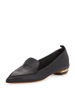 Nicholas Kirkwood Pointy Leather Smoking Slipper