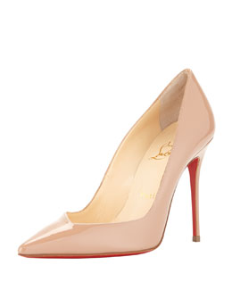 Christian Louboutin Completa Asymmetric Patent Pump, Neutral