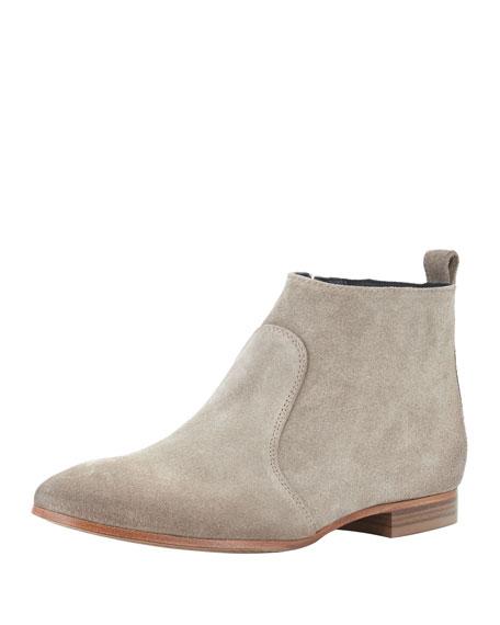 Alberto Fermani Nolita Flat Suede Ankle Boot, Sand