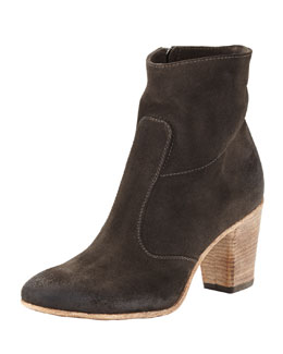 Alberto Fermani Diva Suede Ankle Boot, Metallic Gray