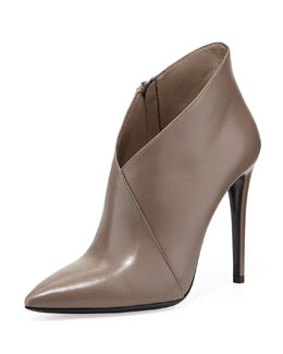 Prada Asymmetric Point-Toe Ankle Boot