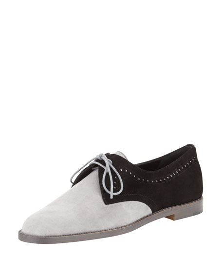 Piola Bicolor Suede Oxford, Black/Gray