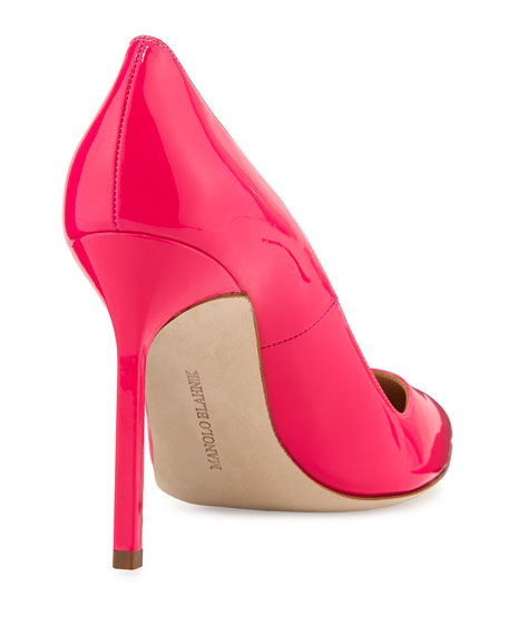 BB Patent Point-Toe Pump, Hot Pink