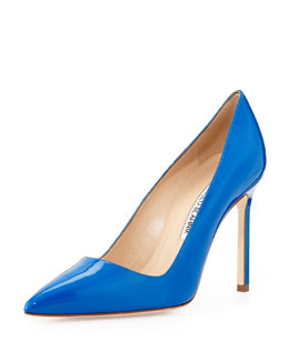 Manolo Blahnik BB Patent Point-Toe Pump, Royal
