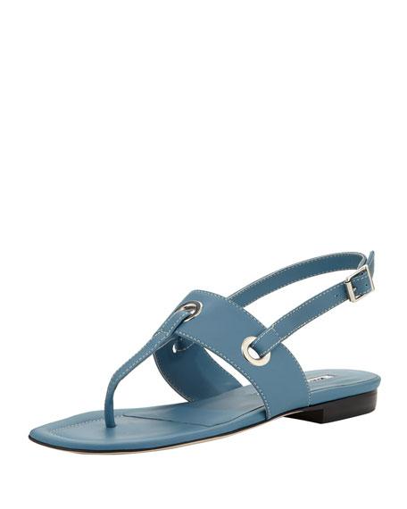 Mooti Grommet Thong Sandal, Blue