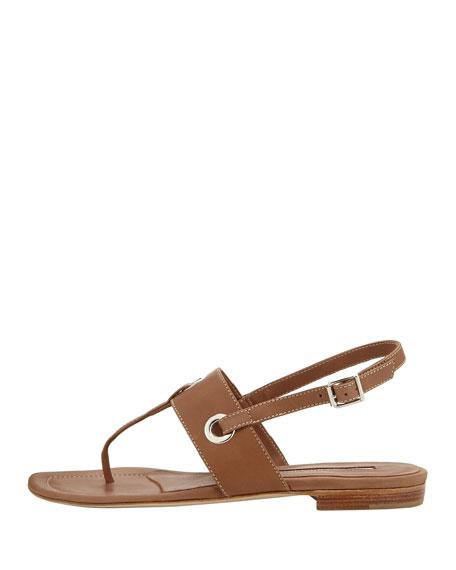 Mooti Grommet Thong Sandal, Medium Brown