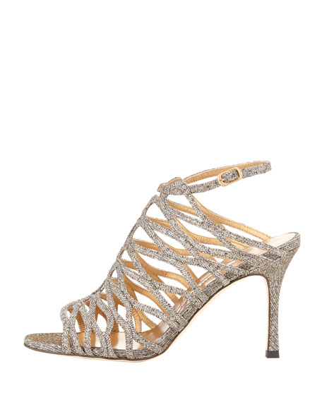 Coddila Strappy Lamé Sandal, Gold