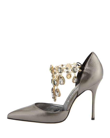 Zullin Crystal-Draped d'Orsay Pump