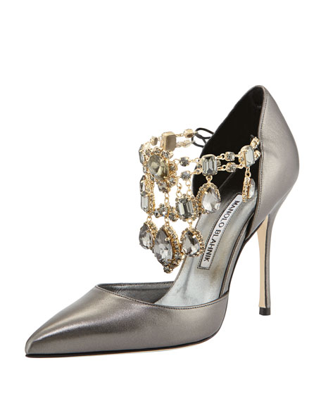 100% guaranteed for sale Manolo Blahnik Lace D'Orsay Pumps cheap the cheapest it1CWP4Wpy