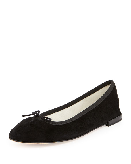 7bcbcac9befb Repetto Suede Bow Ballerina Flat, Black