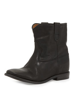 Cluster Hidden-Wedge Ankle Boot
