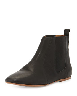 Isabel Marant Dewar Double-Gore Leather Bootie, Black
