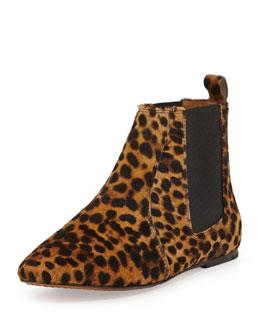 Isabel Marant Dewar Leopard-Print Calf Hair Bootie