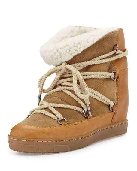 Image 1 of 1: Nowles Shearling-Lined Lace-Up Bootie