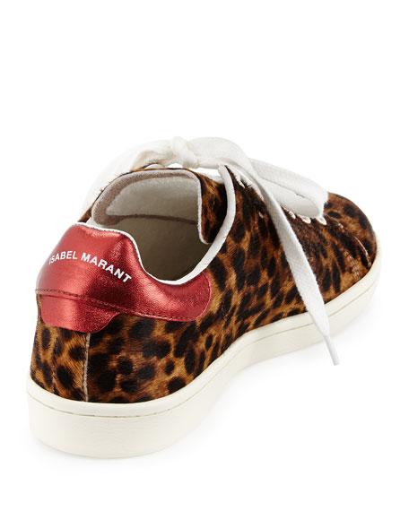 Bart Leopard-Print Calf Hair Low-Top Sneaker