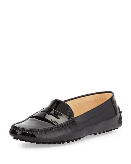 Tod's Winter Gommini Driving Moccasin, Black