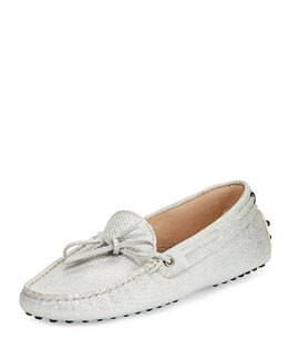 Tod's Heaven New Laccetto Driver, Metallic Gray