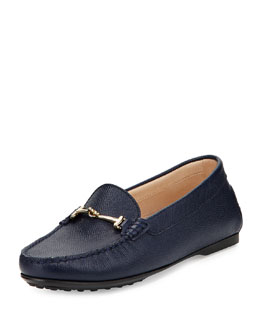 Tod's Double-T Buckle City Driver, Navy