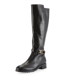 Tod's Leather Equestrian Riding Boot