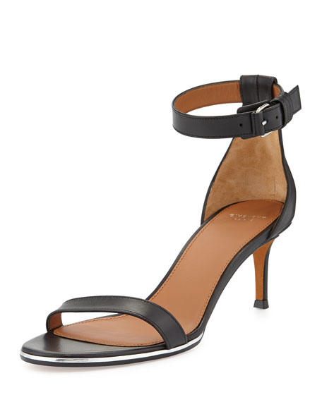 Givenchy Nadia Low-Heel Ankle-Strap Sandal