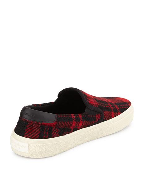 Plaid Tweed Skate Shoe