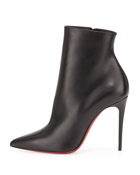 So Kate Bootie Red Sole Ankle Boot, Black