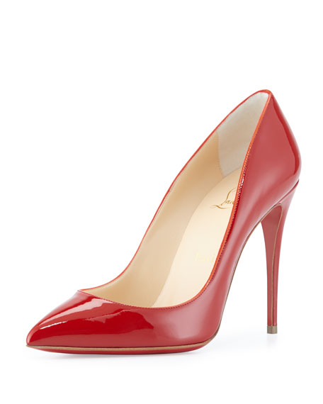 Pigalle Follies Patent Red Sole Pump, Red