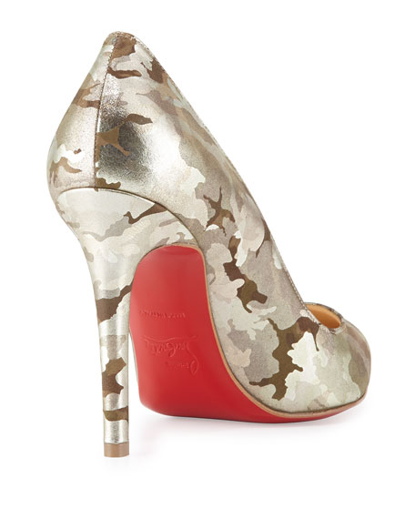 Pigalle Camo Red-Sole Pump