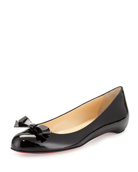 Simplenodo Red-Sole Bow Flat, Black