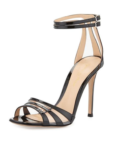 Patent/PVC Ankle-Strap Sandal
