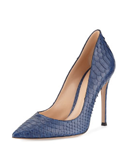 Gianvito Rossi Python Pointed-Toe Pump