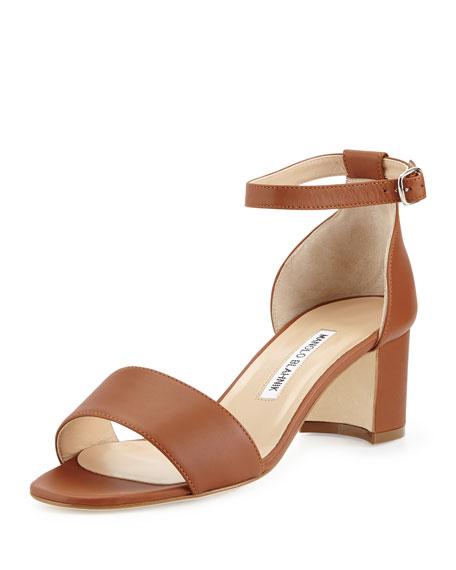 Manolo Blahnik Lauratomod Leather Sandals d2A3u