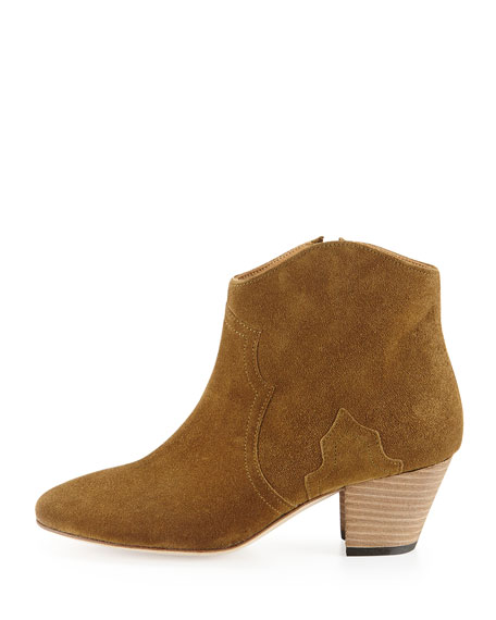Dicker Suede Ankle Boot, Medium Brown