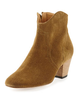 Isabel Marant Dicker Suede Ankle Boot, Medium Brown