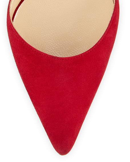 Tayler Bicolor d'Orsay Pump, Red