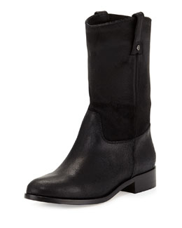 Jimmy Choo Hudson Leather Short Boot