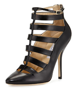Jimmy Choo Freeze Strappy Cage Pump, Black
