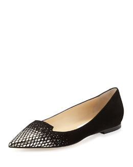 Jimmy Choo Attila Degrade Suede Flat