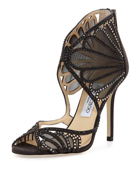 Kole Crystal Mesh Sandal