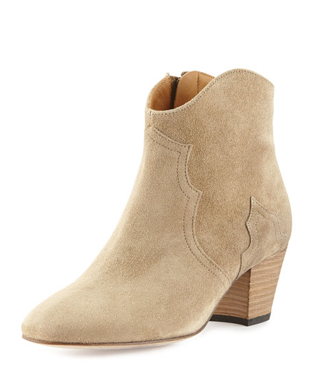 Dicker Suede Ankle Boot, Taupe