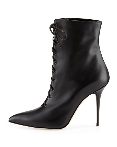 Bordin Pointed Lace-Up Bootie