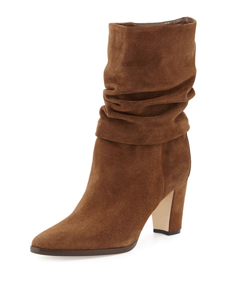 Knight Ruched Suede Boot