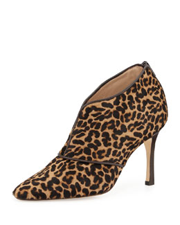 Manolo Blahnik Aguila Calf Hair Ankle Boot