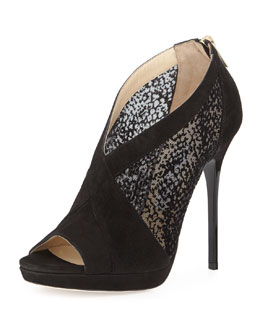 Jimmy Choo Vivid Suede Burnout Sandal, Black