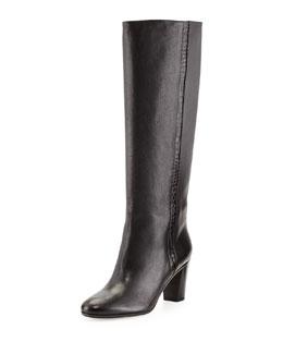 Maison Martin Margiela Croc-Emboss-Stripe Knee Boot