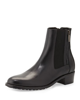 Aquatalia Odessa Leather Ankle Boot, Black