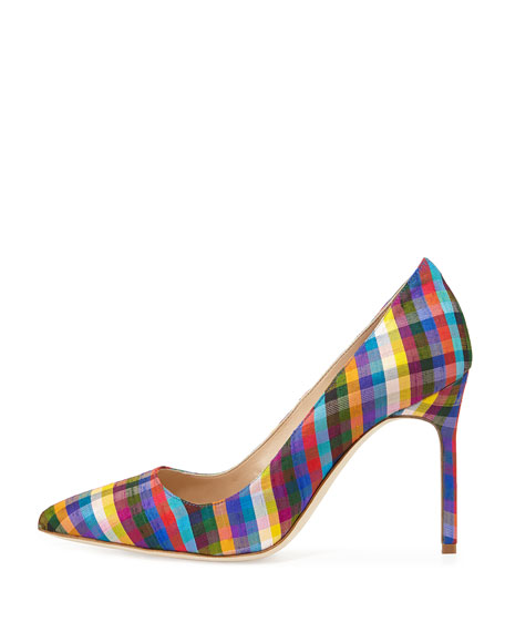 BB Plaid Point-Toe Pump
