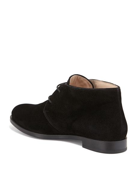Flat Desert Ankle Bootie, Black