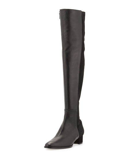 b85a87af70f Manolo Blahnik Pampahi Leather Over-the-Knee Boot